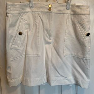 Loft size 14 white skirt